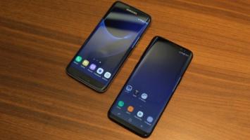 Links Samsung Galaxy S7 Edge, rechts Galaxy S8