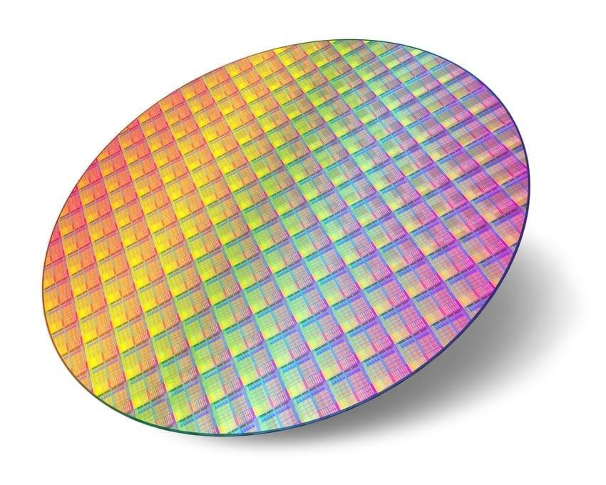 CPU wafer - fáze výrobního procesu procesorů