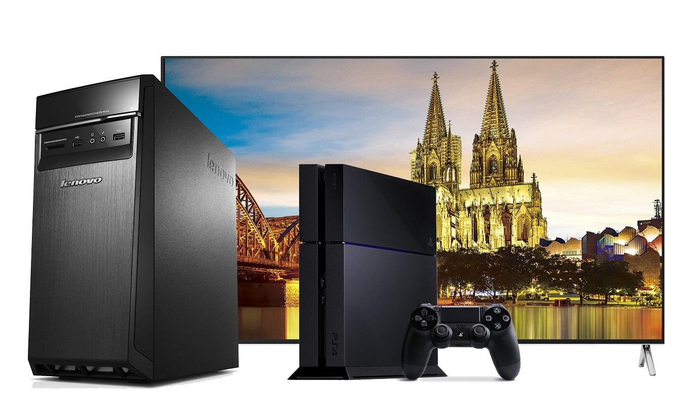 Ein Geschenk für die ganze Familie – HISENSE H75M7900, Sony Playstation 4, Lenovo IdeaCentre H50-55