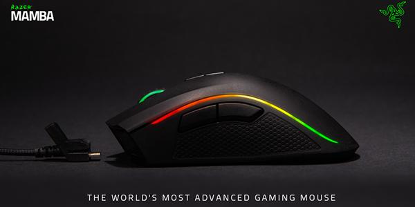 Die Razer Mamba Gaming Maus – für Meister konzipiert