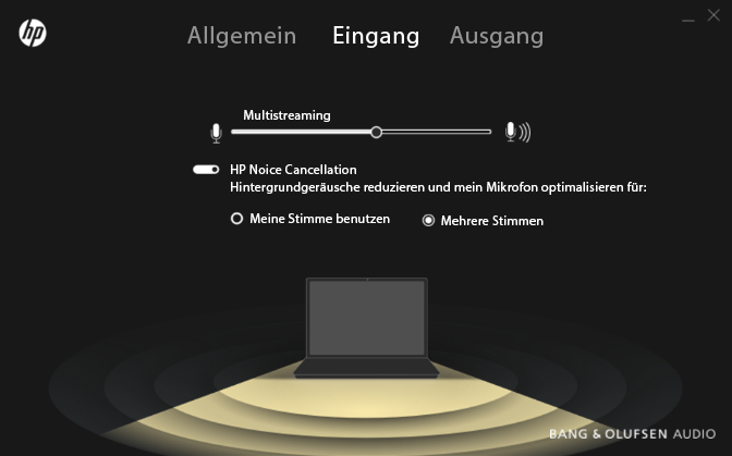 HP Envy 15 – HP Audio Switch