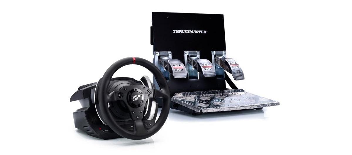 Realistisches Fahrerlebnis mit dem Lenkrad und Pedalen von Thrustmaster T500 RS