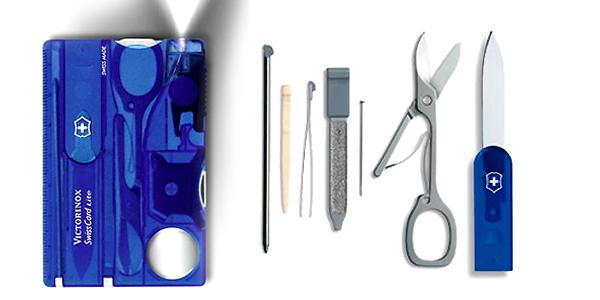 Taschenmesser Victorinox Swiss Card Lite Translucent Blue