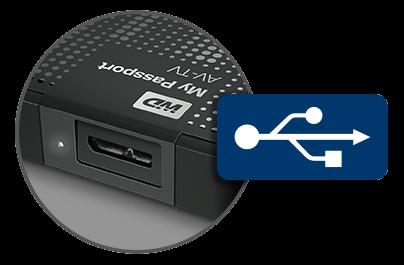 "xterní disk WD 2.5"" My Passport AV-TV"