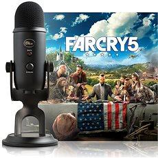 BLAUer Yeti Schwarz + Far Cry 5 - Tischmikrofon