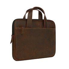 """Decoded Waxed Slim Bag Brown MacBook 12"""", 13"""", 15"""" - Laptop-Tasche"""