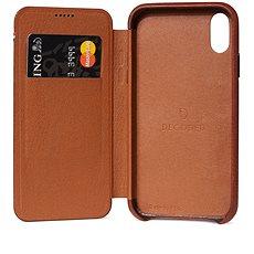 Entschlüsselte Leder Slim Wallet Braun iPhone XS Max - Silikon-Schutzhülle