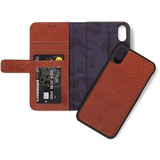Decoded Leather 2in1 Wallet Brown iPhone XS Max - Handyhülle