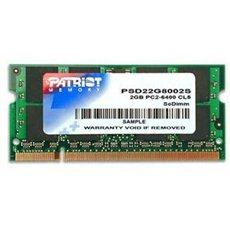 Patriot SO-DIMM 2 Gigabyte DDR2 800 Megahertz CL6 Signature Line - Arbeitsspeicher