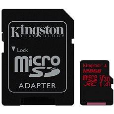 Kingston Canvas React MicroSDXC 128GB A1 UHS-I V30 + SD Adapter - Speicherkarte