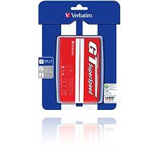 Verbatim 2.5-Zoll GT Superspeed USB HDD 500 Gigabyte Rot/weiß - Externe Festplatte