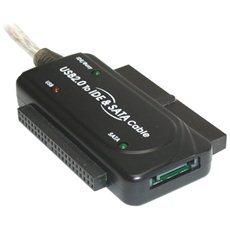 """PremiumCord - USB 2.0 Konverter IDE 40/44 oder SATA 2,5"""" und 3,5"""" HDD, Netzteil - Adapter"""