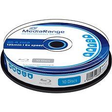 MediaRange BD-R (HTL) 25GB 10 Stück Tortenförmige Box - Media