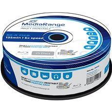 Blu-ray Discs MediaRange BD-R (HTL) 25 GB, Tintenstrahl bedruckbar, 25 Stück, Cakebox - Media