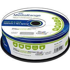 MediaRange DVD-R Inkjet Full Surface Printable 25 Stk Cakebox - Media