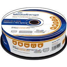 MediaRange DVD+R Inkjet Fullsurface Printable 25 Stk Cakebox - Media