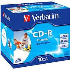 Verbatim CD-R Printable AZO 52x, 10 Stk - Media