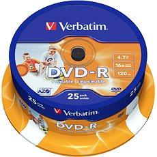 DVD-R Verbatim Printable 4,7GB 16x Speed 25 Stk Cakebox - Media