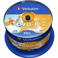Verbatim DVD-R 16x Druckbare 50pcs cakebox - Media