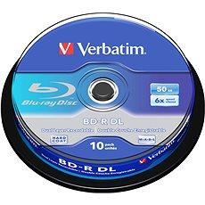 Verbatim BD-R Dual Layer 50 Gigabyte 6x, 10 Stk Cakebox - Media
