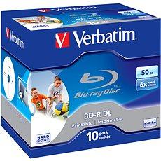 Verbatim BD-R 50 GB Dual Layer Printable 6x, 10 Stück in Box - Media