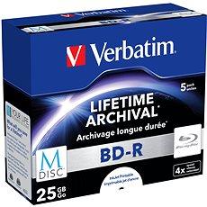 VERBATIM M-DISC BD-R SL 25GB 4x INKJET PRINTABLE - 5 Stück - Media