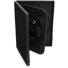 DVD-Hülle - für 4 Cd's oder DVD's- schwarz, 19mm, 5er Pack - DVD-Hülle