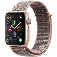 Apple Watch Series 4 44 mm im vergoldeten Aluminiumgehäuse, mit Sport-Riemen, Sandrosa - Smartwatch