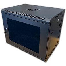 """19"""" RACK einteilig 6U schwarz - Serverschrank"""