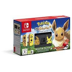 Nintendo Switch + Pokémon: Lets Go Eevee + Pokéball - Spielkonsole