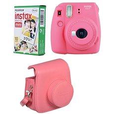 Fujifilm Instax Mini 9 pink + 10 x Fotopapier + Hülle - Sofortbildkamera