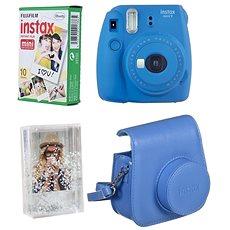 Fujifilm Instax Mini 9 dunkelblau + 10 x Fotopapier + Hülle - Sofortbildkamera