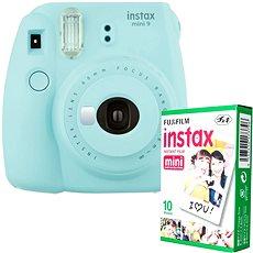 Fujifilm Instax Mini 9 hellblau + 10x Fotopapier - Sofortbildkamera
