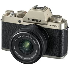 Fujifilm X-T100 Gold + XC 15-45 mm 1: 3,5-5,6 OIS PZ - Digitalkamera