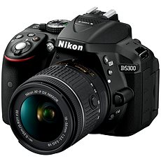 Digitale Spiegelreflex-Kamera Nikon D5300 + Objektiv 18-55 mm AF-P VR - Digitale Spiegelreflexkamera