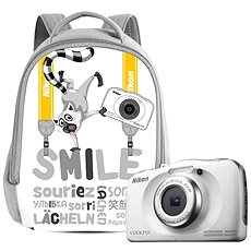 Nikon COOLPIX W100 Weiß backpack kit - Kinderkamera