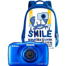 NIKON Coolpix W100 Blau backpack kit - Kinderkamera