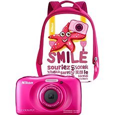NIKON Coolpix W100 Pink backpack kit - Kinderkamera