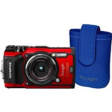 Olympus TOUGH TG-5 rot + Tough Neoprene Case - Digitalkamera