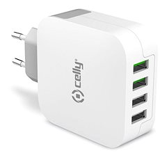 CELLY TURBO travel charger 4 x USB - Ladegerät