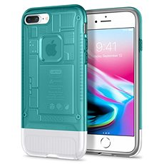 Spigen Classic C1 Bondi Blau iPhone 8 Plus / 7 Plus - Silikon-Schutzhülle