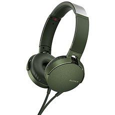 Sony MDR-XB550AP Grün - Kopfhörer mit Mikrofon
