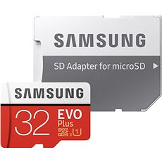 Samsung MicroSDHC 32GB EVO Plus Class 10 UHS-I + SD-Adapter - Speicherkarte
