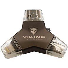Viking USB Stick 3.0 4v1 128GB Schwarz - USB Stick