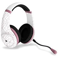 4Gamers Rose Gold Edition Gaming Headset - Abstract White - PS4 - Gaming Kopfhörer