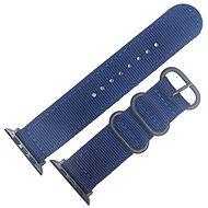 Eternico Apple Watch 42mm Nylon Band Dark Blue - Uhrband