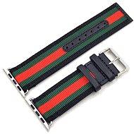 Eternico Apple Watch 42mm Nylon Band Black Green Red - Armband