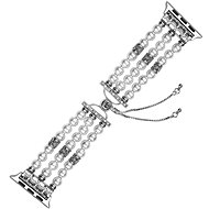 Eternico Apple Watch 42mm Pearl Bracelet White - Armband