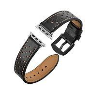 Eternico Apple Watch 42mm Leather Band Black - Armband