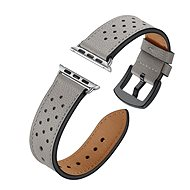 Eternico Apple Watch 42mm Leather Band Grey - Armband